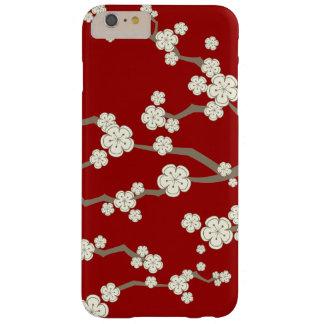 Oriental Cream Sakura Cherry Blossoms Red Case
