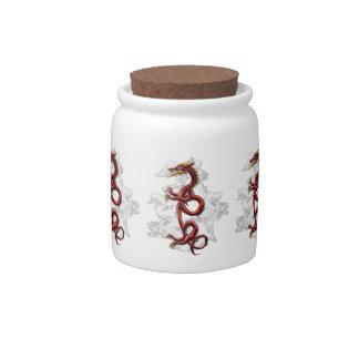 Oriental dragon candy jar