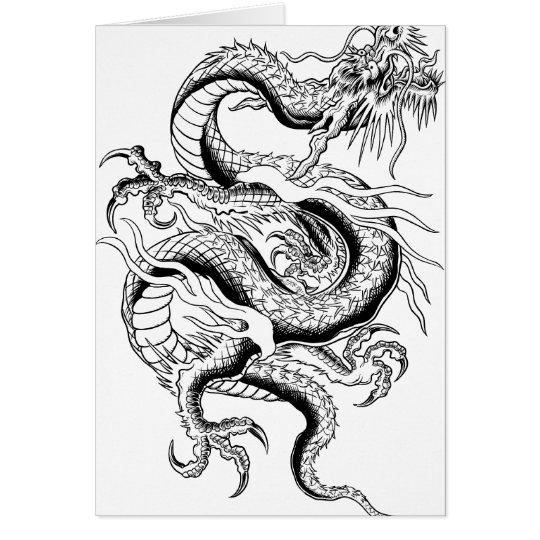 Oriental Dragon Card