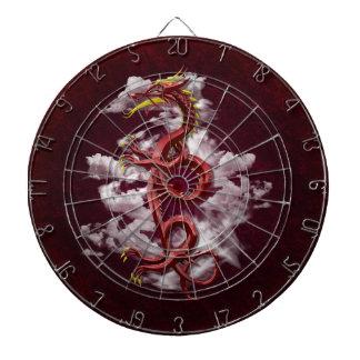 Oriental Dragon Dartboard With Darts