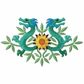 Oriental Dragon Flowers Hoodies