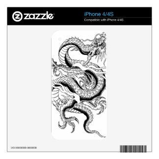 Oriental Dragon iPhone 4S Skin