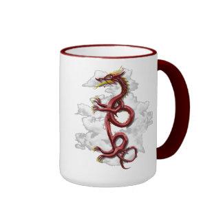 Oriental dragon ringer coffee mug