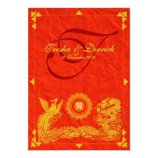Oriental Dragon Amp Phoenix Wedding Invitation Cards