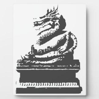 oriental dragon plaque