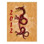 Oriental dragon post cards