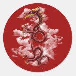 Oriental dragon sticker