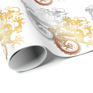 Oriental Dragons 1 - Wrapping Paper
