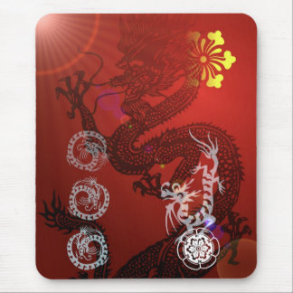 Oriental Dragons Mouse Pad