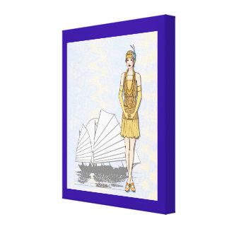 Oriental elegance fashion by the sea gallery wrapped canvas