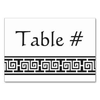 Oriental Elegance in Black Table Card