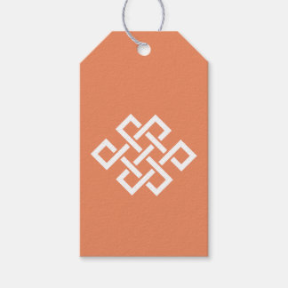 Oriental Elegance in Coral Gift Tag Pack Of Gift Tags