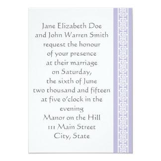 "Oriental Elegance in Lavender Wedding Invitation 5"" X 7"" Invitation Card"