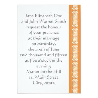 "Oriental Elegance in Orange Wedding Invitation 5"" X 7"" Invitation Card"