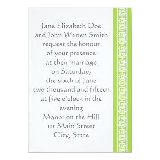 "Oriental Elegance in Peridot Wedding Invitation 5"" X 7"" Invitation Card"