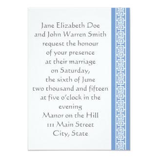 "Oriental Elegance in Periwinkle Wedding Invitation 5"" X 7"" Invitation Card"