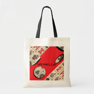 Oriental expression budget tote bag