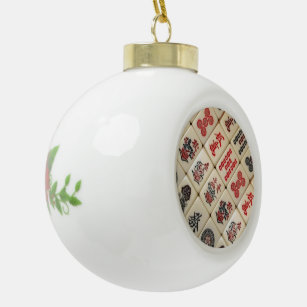Oriental expression ceramic ball christmas ornament
