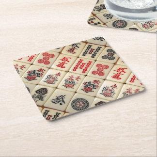Oriental expression square paper coaster