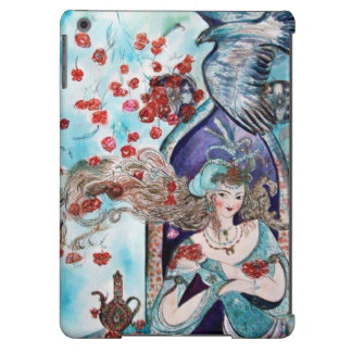 ORIENTAL FAIRY TALE / PRINCESS,RED ROSES AND HAWK iPad AIR CASE