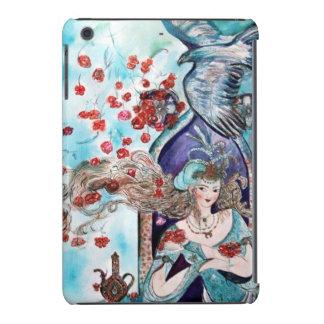 ORIENTAL FAIRY TALE / PRINCESS,RED ROSES AND HAWK iPad MINI COVERS