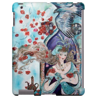 ORIENTAL FAIRY TALE / PRINCESS,RED ROSES AND HAWK