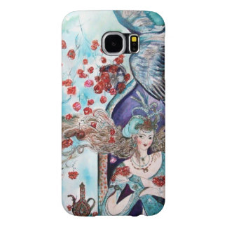 ORIENTAL FAIRY TALE / PRINCESS,RED ROSES AND HAWK SAMSUNG GALAXY S6 CASES