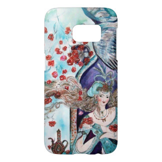 ORIENTAL FAIRY TALE / PRINCESS,RED ROSES AND HAWK SAMSUNG GALAXY S7 CASE