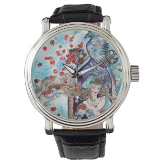 ORIENTAL FAIRY TALE / PRINCESS,RED ROSES AND HAWK WATCH