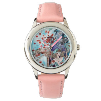 ORIENTAL FAIRY TALE / PRINCESS,RED ROSES AND HAWK WATCHES