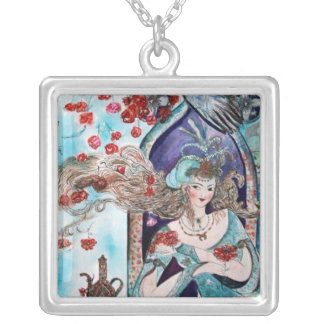 ORIENTAL FAIRY TALE SILVER PLATED NECKLACE