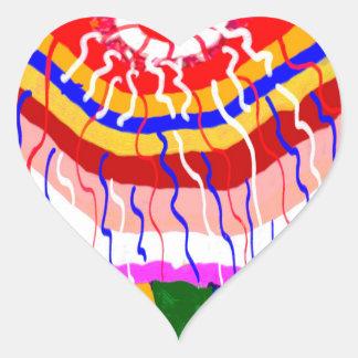 Oriental Festive Decorations Heart Sticker