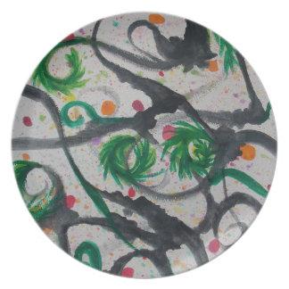 Oriental Fir Tree Dinner Plate