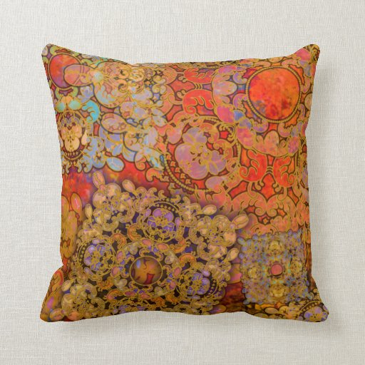 """Oriental Flare"" Pillow"