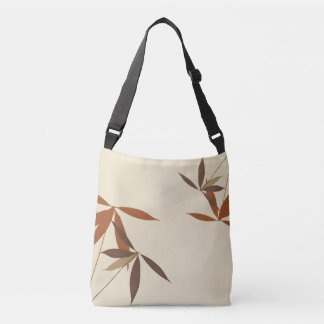 Oriental Floral Pattern Crossbody Bag