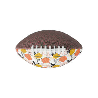Oriental floral pattern in vintage style pattern football