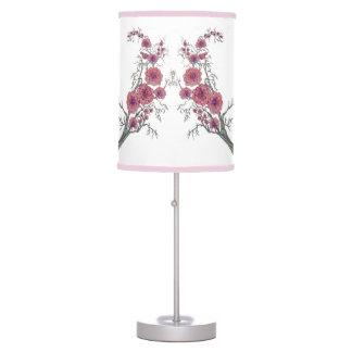 Oriental florece la lámpara de mesa