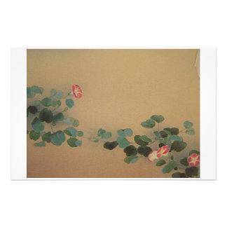 Oriental florece los efectos de escritorio papelería de diseño