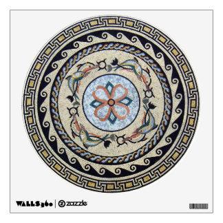 Oriental Flower Center Medallion Mosaic Wall Sticker