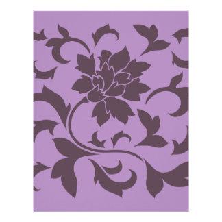 Oriental Flower - Cherry Chocolate & Lilac Letterhead