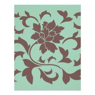 Oriental Flower - Chocolate Hemlock Letterhead