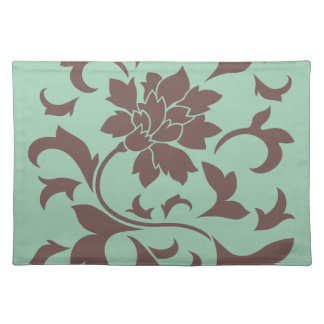 Oriental Flower - Chocolate Hemlock Placemat