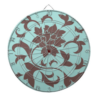 Oriental Flower - Chocolate Limpet Shell Dartboard