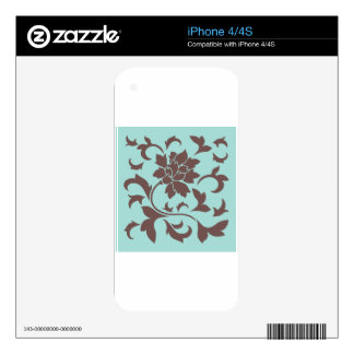 Oriental Flower - Chocolate Limpet Shell iPhone 4 Skins