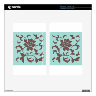 Oriental Flower - Chocolate Limpet Shell Kindle Fire Skins