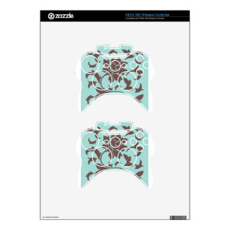 Oriental Flower - Chocolate Limpet Shell Xbox 360 Controller Skins