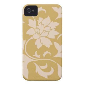 Oriental Flower - Coffee Latte & Spicy Mustard iPhone 4 Cover