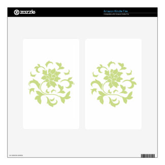 Oriental Flower - Daiquiri Green Circular Pattern Decals For Kindle Fire