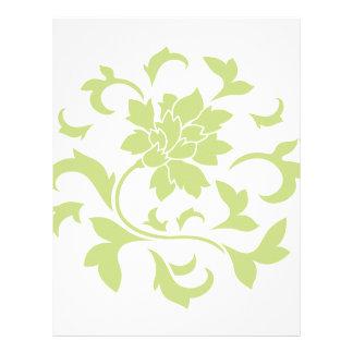 Oriental Flower - Daiquiri Green Circular Pattern Letterhead