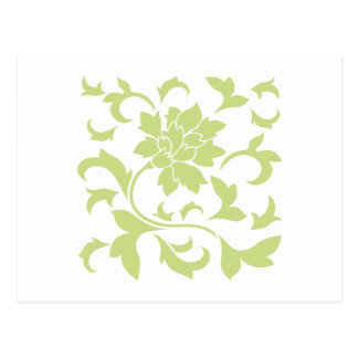 Oriental Flower - Daiquiri Green Postcard